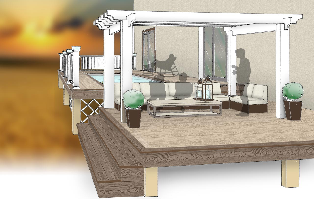 Multi-Tier Pool Deck Plan