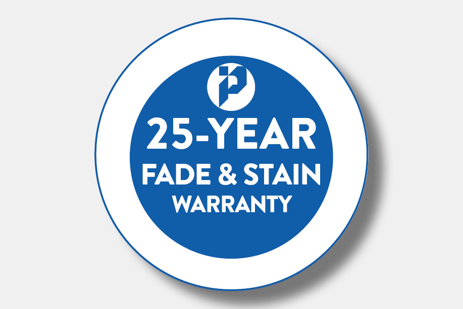 25-Year Fade & Stain Warranty