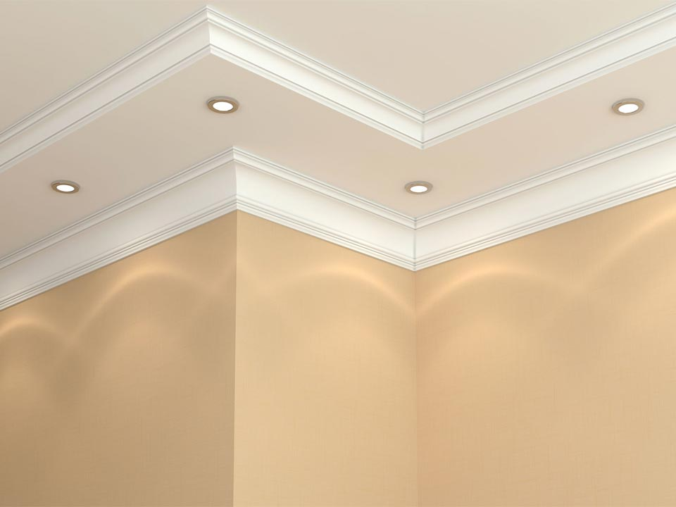 Crown in White ... - Ceiling Moulding : Inteplast Building Products